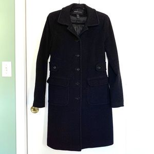 Black wool dress coat